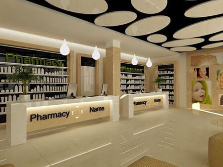 جدیدترین طراحی های داروخانه, دکوراسیون و چیدمان داروخانه, تصاویر طراحی داخلی داروخانه