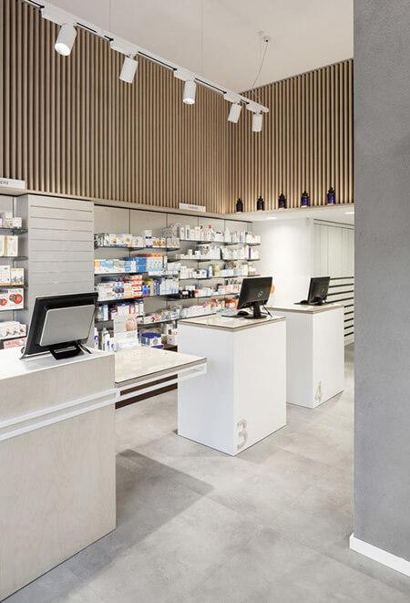 طراحی های داخلی داروخانه, جدیدترین طراحی های داروخانه, دکوراسیون و چیدمان داروخانه