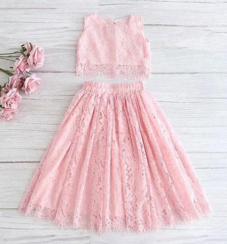 pink1 long1 skirt2 girls10 مدل دامن بلند دخترانه صورتی