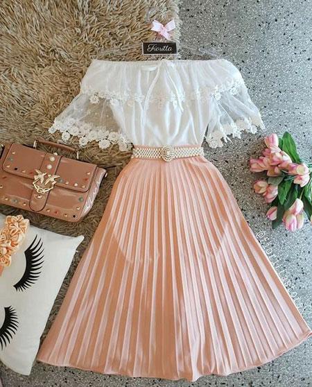 pink1 long1 skirt2 girls12 مدل دامن بلند دخترانه صورتی