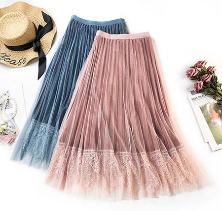 pink1 long1 skirt2 girls13 مدل دامن بلند دخترانه صورتی