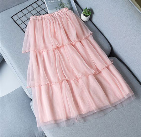 pink1 long1 skirt2 girls16 مدل دامن بلند دخترانه صورتی