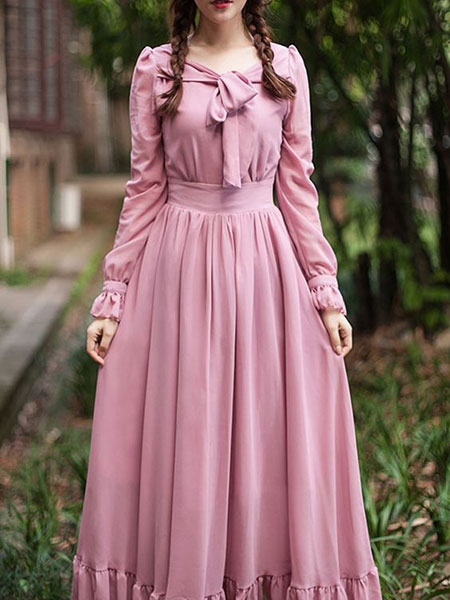 pink1 long1 skirt2 girls3 مدل دامن بلند دخترانه صورتی