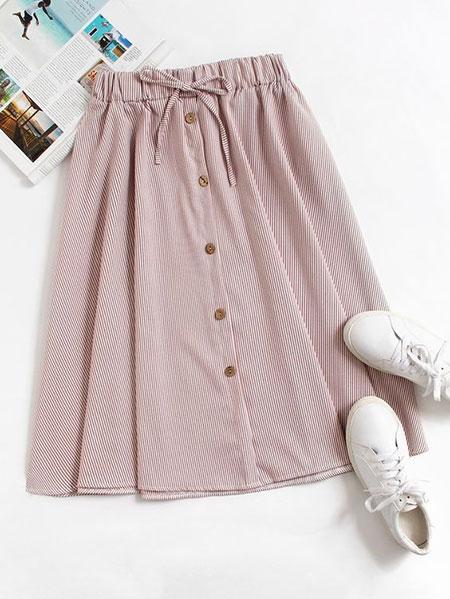 pink1 long1 skirt2 girls4 مدل دامن بلند دخترانه صورتی