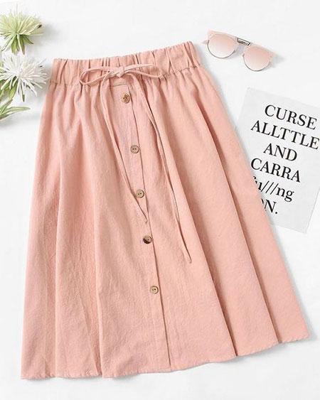pink1 long1 skirt2 girls7 مدل دامن بلند دخترانه صورتی