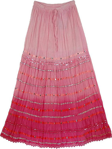 pink1 long1 skirt2 girls8 مدل دامن بلند دخترانه صورتی