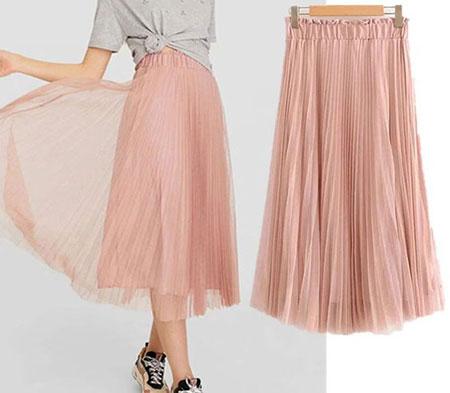 pink1 long1 skirt2 girls9 مدل دامن بلند دخترانه صورتی