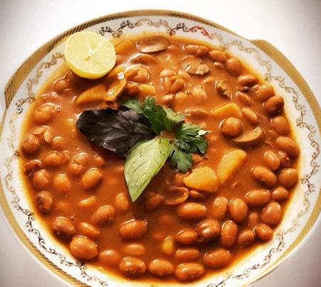 pinto bean recipe24 طرز تهیه خوراک لوبيا چيتی خوشمزه