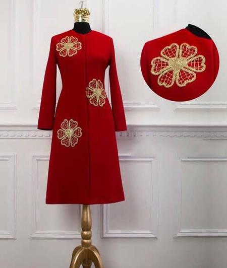 red1 manto1 pattern9 مدل مانتو قرمز