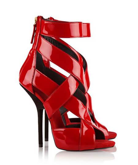 انواع کفش های قرمز, مدل کفش های قرمز زنانه