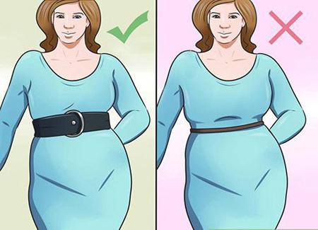 طرز لباس پوشیدن خانم های چاق, اصول لباس پوشیدن خانم های چاق