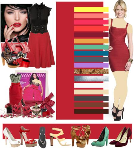 چه رنگی به قرمز می آید,ست مانتو قرمز