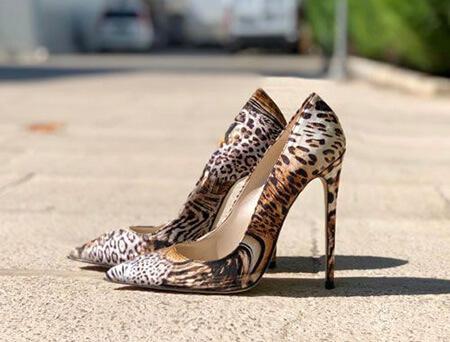 مدل کفش پلنگی, مدل کفش چرم