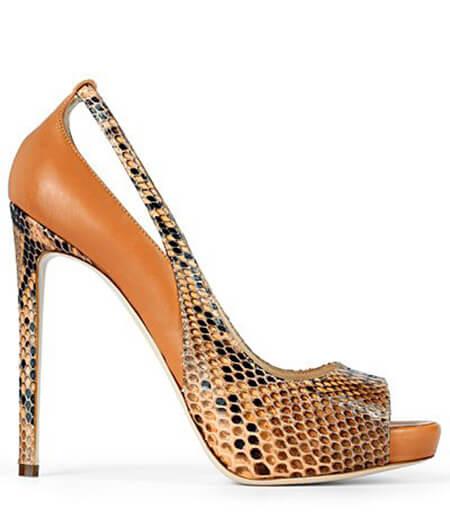 کفش با طرح های پوست حیوانات, مدل های کفش با طرح پوست