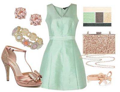 بهترین رنگ کفش با لباس های سبز نعنایی,رنگ لباس های مناسب با رنگ سبز
