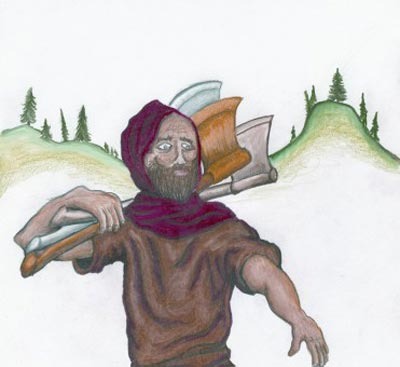 story man woodcutter22 داستان مرد هیزم شکن از داستان های کلیله و دمنه