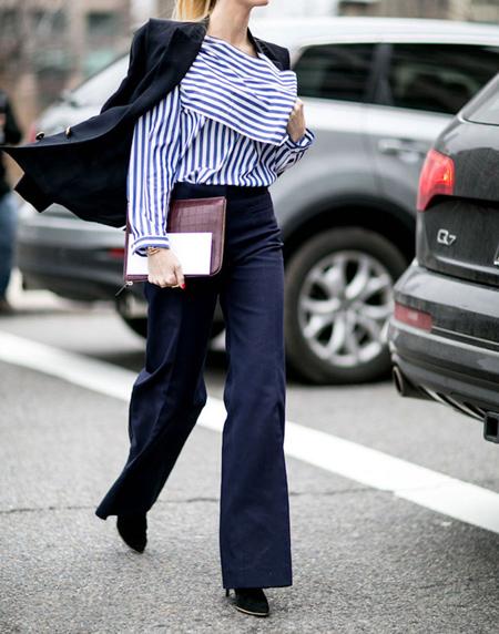 tips3 wasting2 pants12 مدل شلوار گشاد و ست کردن آن با مانتو + نکات پوشیدن شلوار گشاد