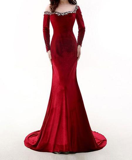 لباس مجلسی مخمل بلند, جدیدترین مدل لباس مخمل