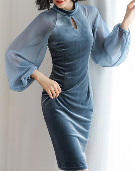 مدل لباس مجلسی, لباس مجلسی مخمل بلند