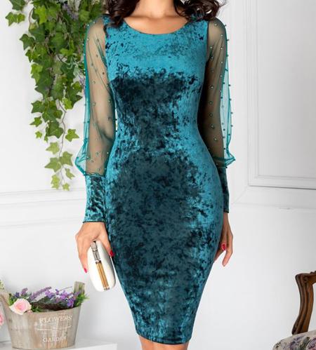 لباس مجلسی مخمل بلند,جدیدترین مدل لباس مخمل
