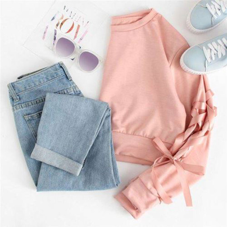 wear2 purple2 pink3 ایده های پوشیدن پلیور صورتی در فصل پاییز