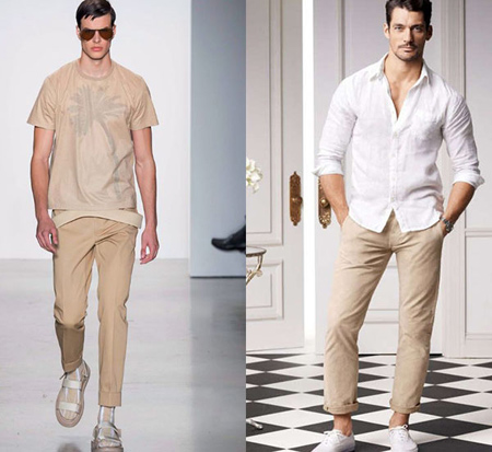 wearing cream trousers1 ست شلوار کرم – خاکی