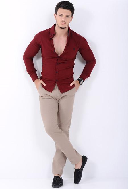 wearing cream trousers10 ست شلوار کرم – خاکی