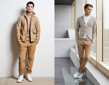 wearing cream trousers3 ست شلوار کرم – خاکی