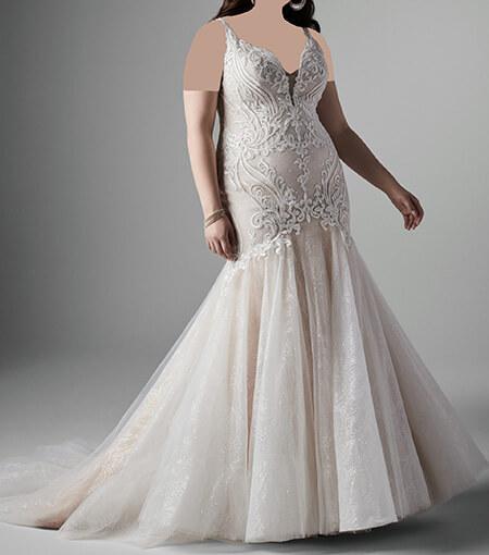 wedding1 dress1 obese1 مدل لباس عروس برای افراد چاق