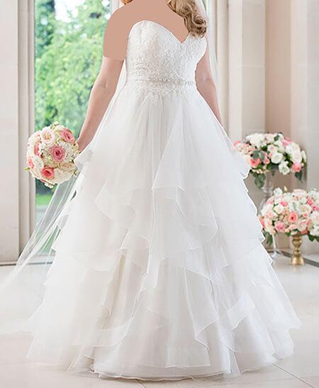 wedding1 dress1 obese10 مدل لباس عروس برای افراد چاق