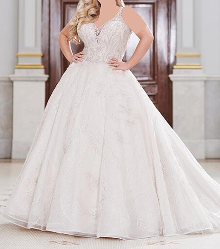 wedding1 dress1 obese11 مدل لباس عروس برای افراد چاق