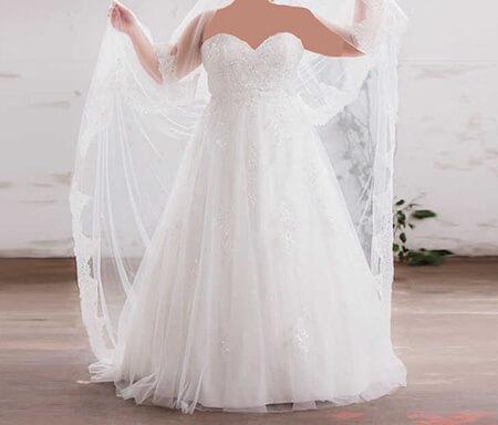 wedding1 dress1 obese12 مدل لباس عروس برای افراد چاق