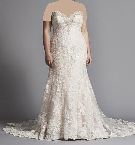 wedding1 dress1 obese13 مدل لباس عروس برای افراد چاق