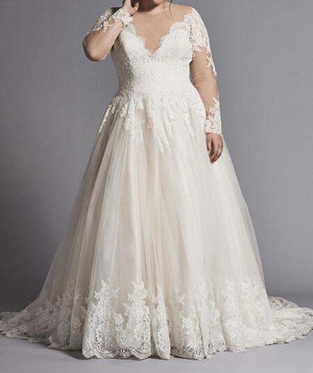 wedding1 dress1 obese14 مدل لباس عروس برای افراد چاق