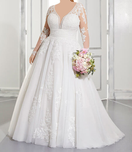 wedding1 dress1 obese15 مدل لباس عروس برای افراد چاق