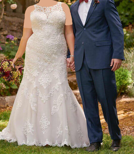 wedding1 dress1 obese17 مدل لباس عروس برای افراد چاق