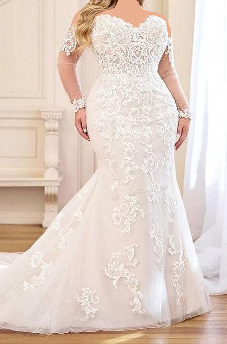 wedding1 dress1 obese18 مدل لباس عروس برای افراد چاق