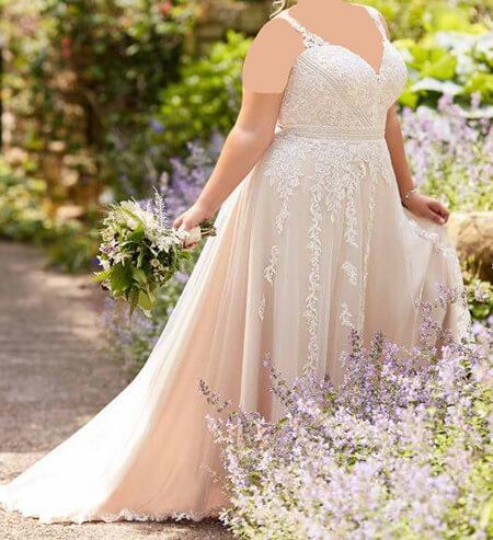 wedding1 dress1 obese19 مدل لباس عروس برای افراد چاق