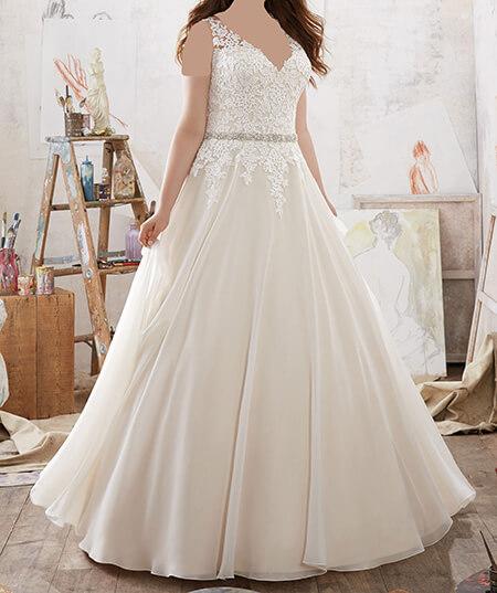 wedding1 dress1 obese2 مدل لباس عروس برای افراد چاق