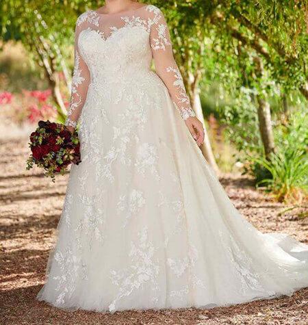 wedding1 dress1 obese21 مدل لباس عروس برای افراد چاق