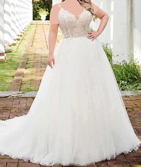 wedding1 dress1 obese3 مدل لباس عروس برای افراد چاق