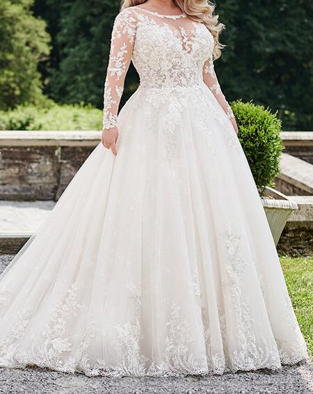 wedding1 dress1 obese4 مدل لباس عروس برای افراد چاق