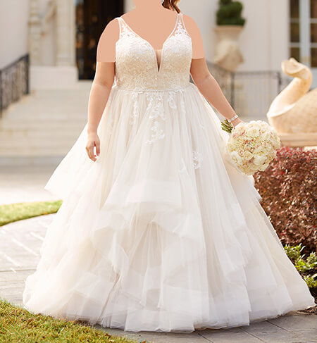 wedding1 dress1 obese5 مدل لباس عروس برای افراد چاق