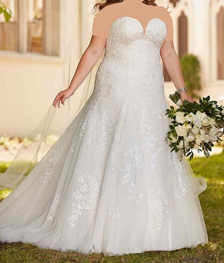 wedding1 dress1 obese7 مدل لباس عروس برای افراد چاق