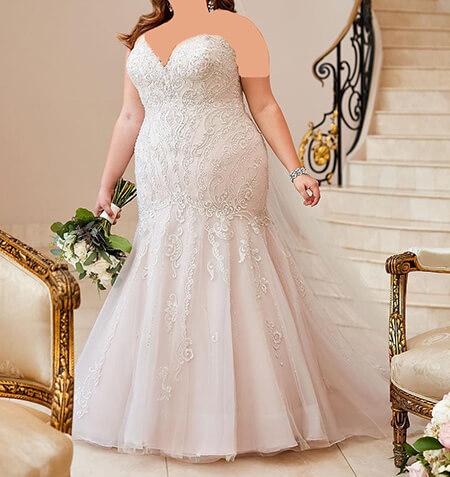 wedding1 dress1 obese8 مدل لباس عروس برای افراد چاق