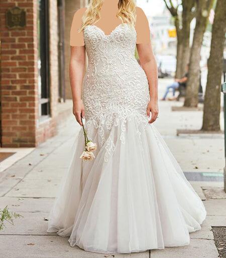 wedding1 dress1 obese9 مدل لباس عروس برای افراد چاق