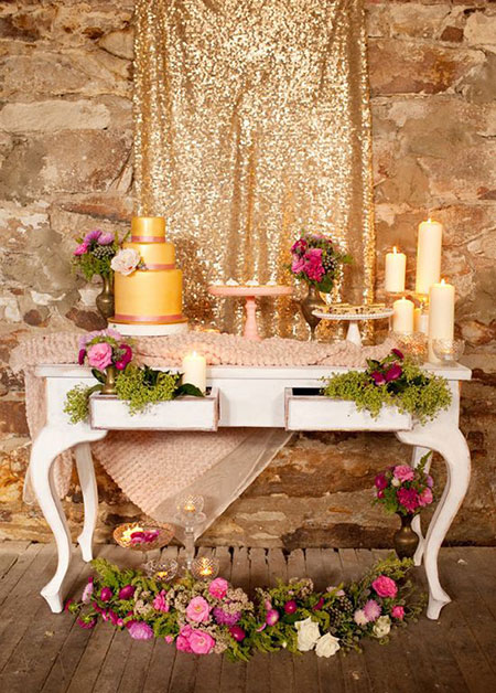 wedding2 anniversary1 table4 تزیین میز برای سالگرد ازدواج