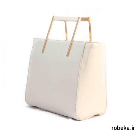 white2 bag1 model10 جدیدترین مدل کیف های سفید