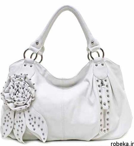 white2 bag1 model8 جدیدترین مدل کیف های سفید