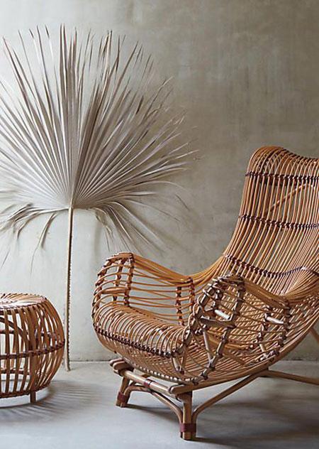 ایده هایی برای مبلمان حصیری,مبلمان حصیری با چوب بامبو